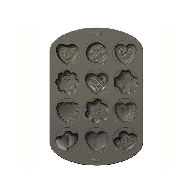 Moule à 12 biscuits - Saint Valentin - Wilton