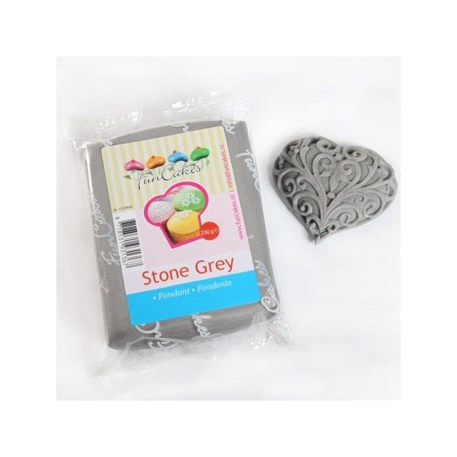 Pâte à sucre gris pierre (Stone Grey) - 250gr - Funcakes