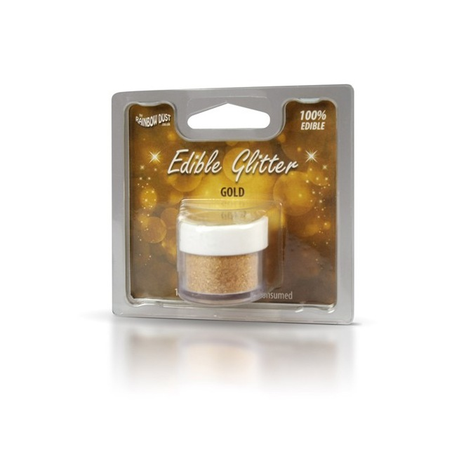Edible glitter - Gold - Rainbow Dust