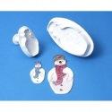 Snowman Plunger Cutter set/2 - PME