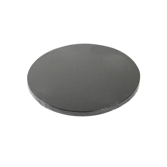 Cake Drum Round 25cm - Black - FunCakes