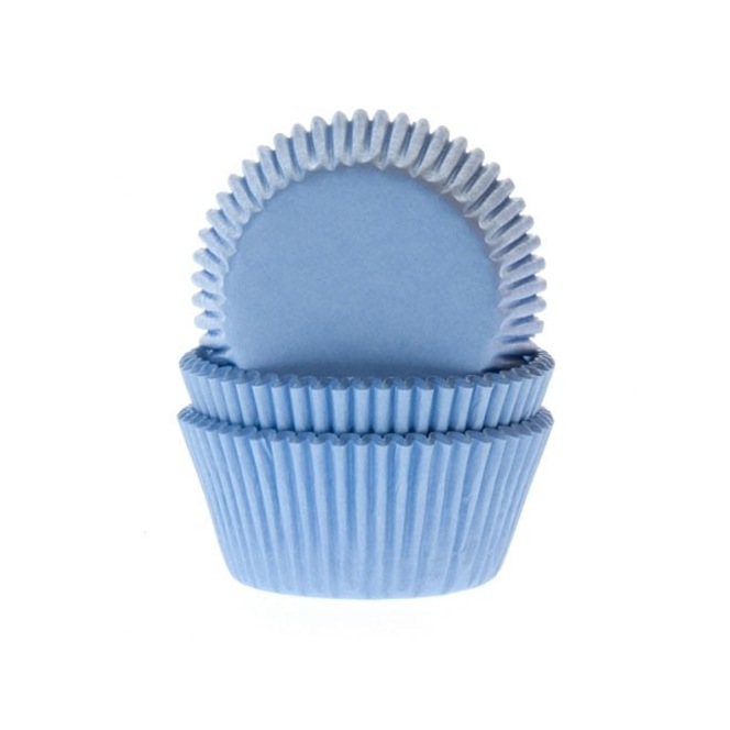 HoM Mini Baking cups Sky Blue - pk/60