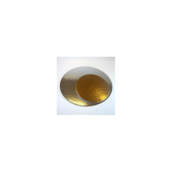 Cake boards silver/gold - Round - 20cm - Funcakes