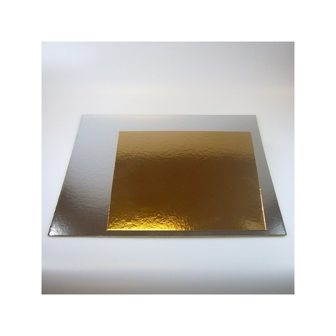 Cake boards silver/gold - Square - 20cm - Funcakes
