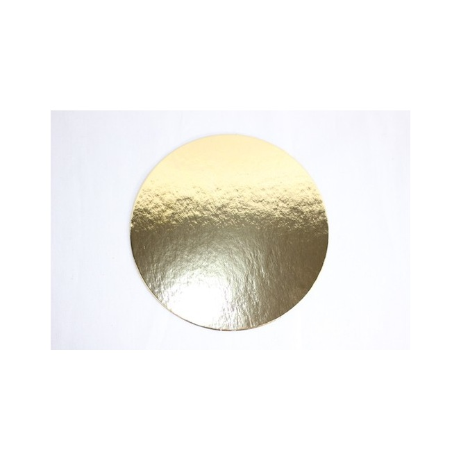 Cake boards gold - Round - 16cm