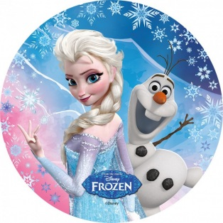 Wafer decorations with sugar- Frozen- Elsa and Olaf- 20cm