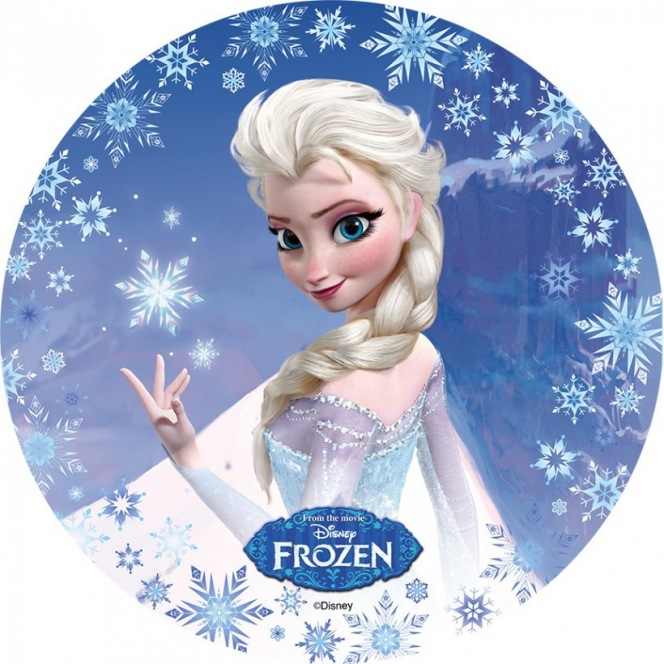 Wafer decorations with sugar- Frozen- Elsa-20cm