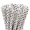 House of Marie Cake Pops Straws  - Small Dots Black - pk/20