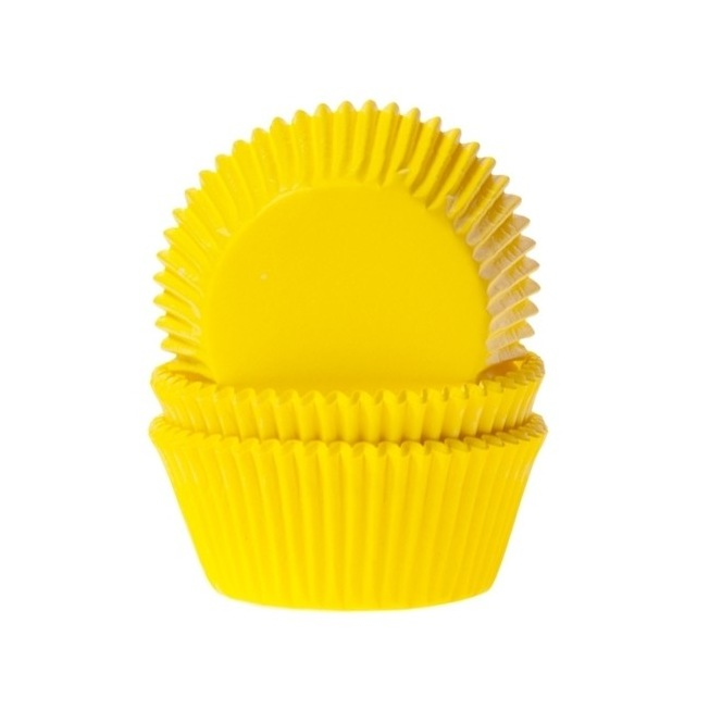 Baking cups Yellow - pk/50 - House of Marie