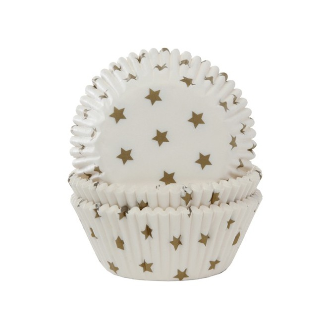 Baking Cups Star Gold pk/50 House of Marie