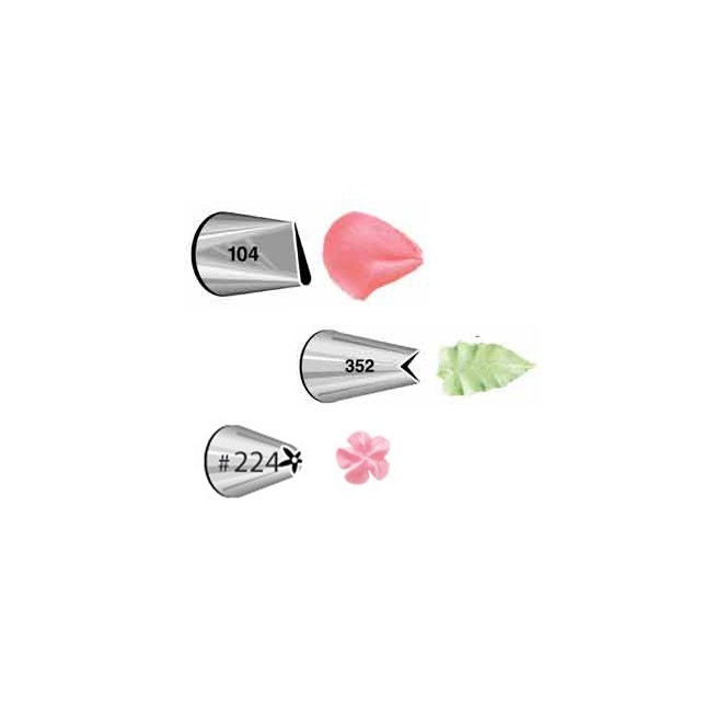 flowers Tip Set/3 Wilton