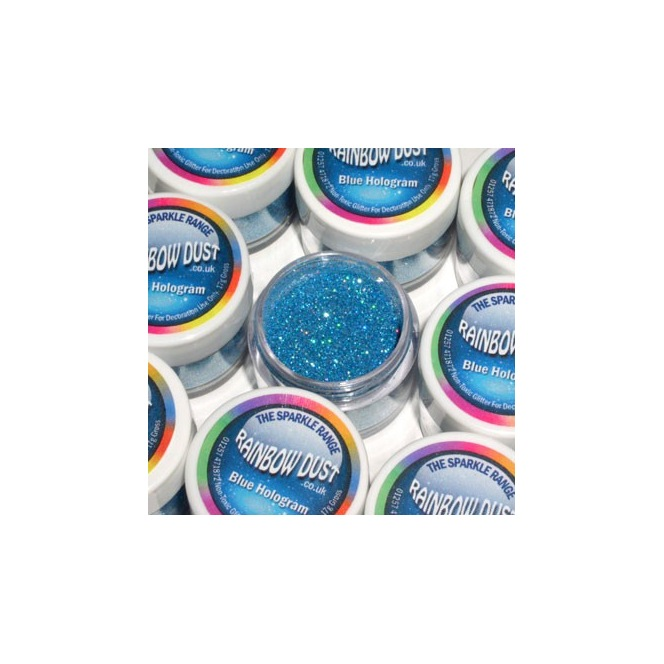 Decorative Glitter Blue Hologram Rainbow Dust 5g