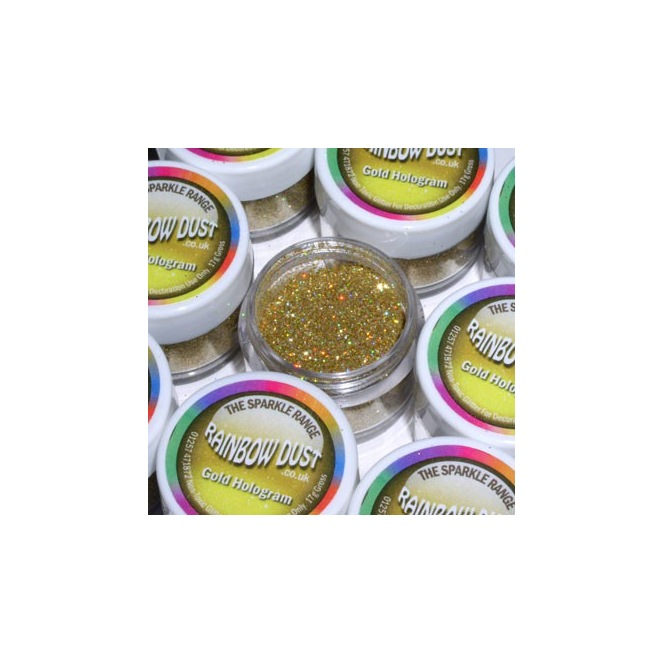 Decorative Glitter Gold Hologram Rainbow Dust 5g
