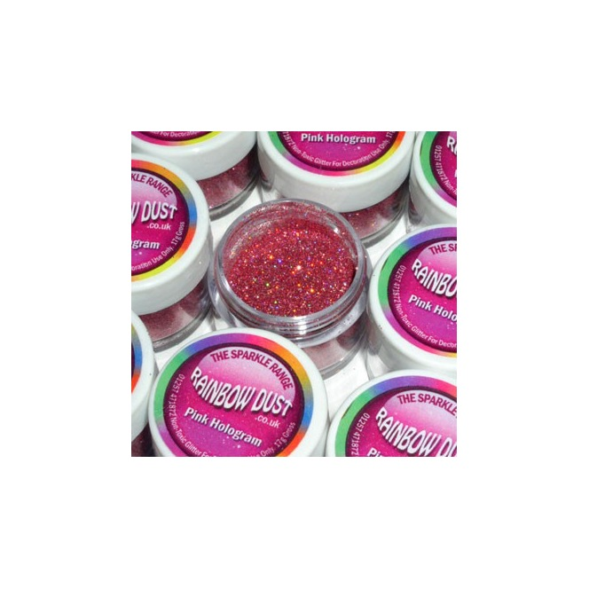 Decorative Sparkles Hologram - Pink - 5g - Rainbow Dust