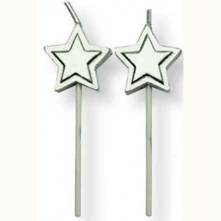 Candles Gold Stars pcs/8 PME