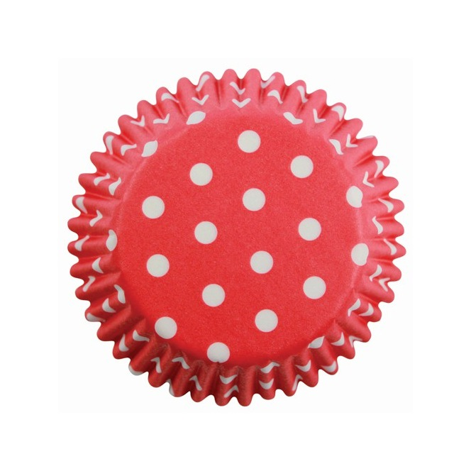 mini  Baking cups Red Polka Dots pk/100 PME