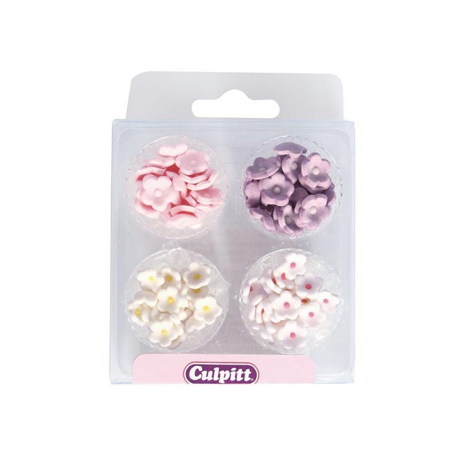 Culpitt Sugar Decorations Mini Flowers Assorted pk/100