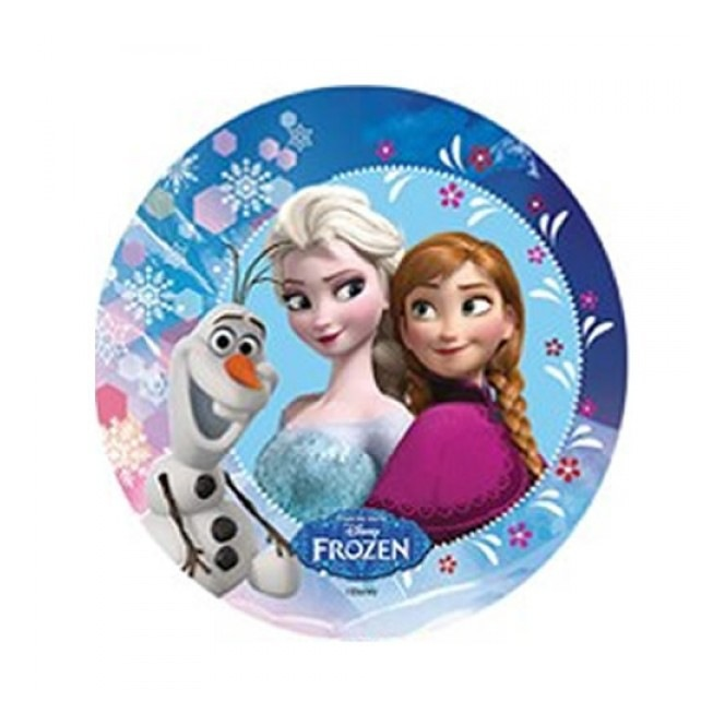 Wafer decoration with sugar - Frozen - Elsa & Anna