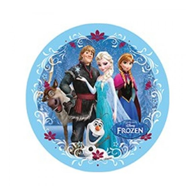 Wafer decorations with sugar - Frozen - Elsa and her friends - 20cm