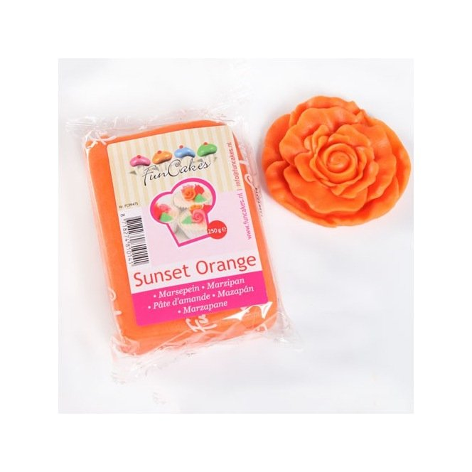 Marzipan Sunset Orange - 250g - FunCakes