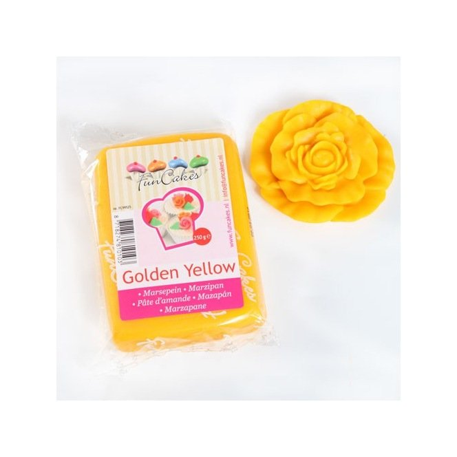 Marzipan Golden Yellow - 250g - FunCakes