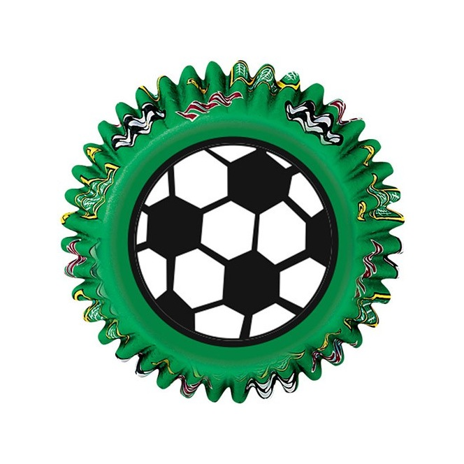 Caissettes à cupcakes- Football- 50pc- Wilton