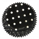 Baking cups Dots Black - pk/75 - Wilton