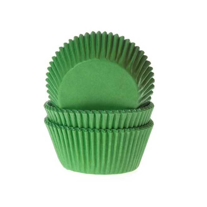 Baking Cups Grass green pk/50- House of Marie