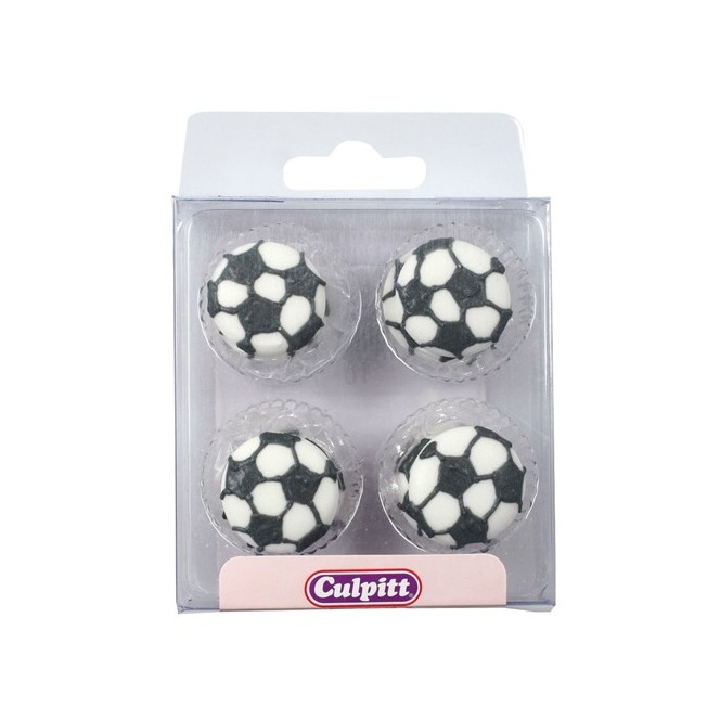 Football Sugar Decorations - 12pc- Culpitt