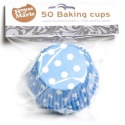 Baking Cups stip Blauw pk/50 - House of Marie