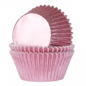 Baking Cups Foil Baby Pink pk/24- HoM