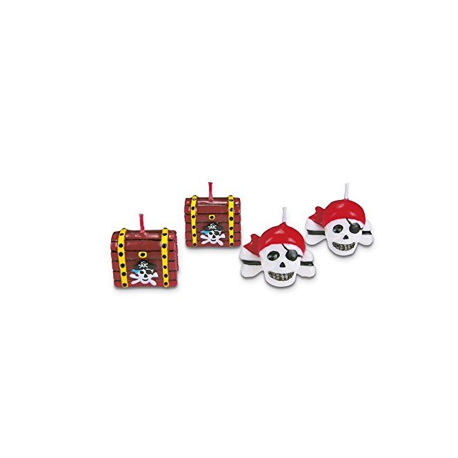 Candles decoration- pirates- 4pc- Städter