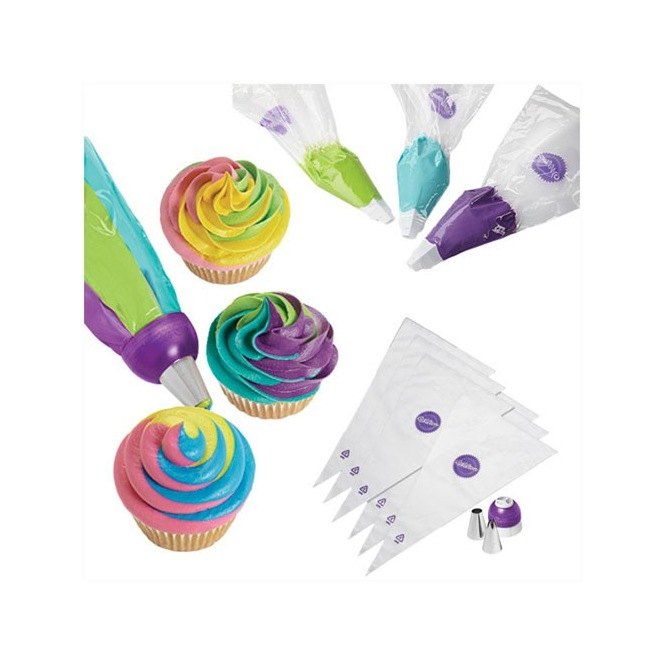 ColorSwirl Tri-Color Coupler Decorating - Set/9 - Wilton