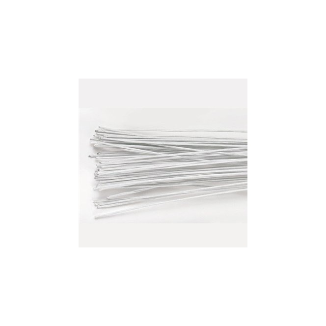 Floral Wire white set/20 -18 gauge - Culpitt
