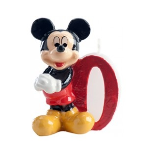 Mickey Mousse Candle - Number 0