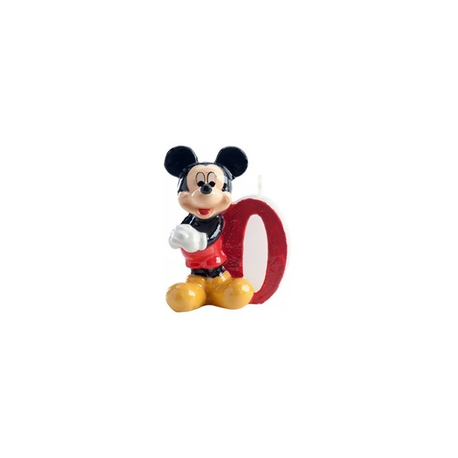 Mickey Mouse Candle - Number 0