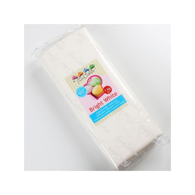 Rolled Fondant Bright White - 1 kg - Funcakes