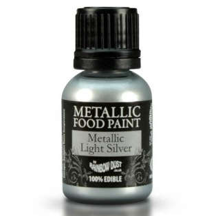 Peinture alimentaire métallisée - Silver