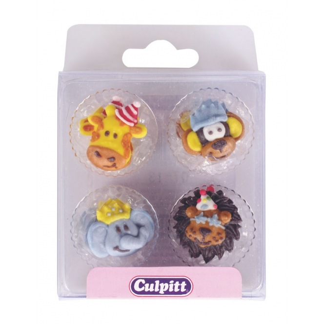 Party Animal Sugar Decorations - 12pc- Culpitt