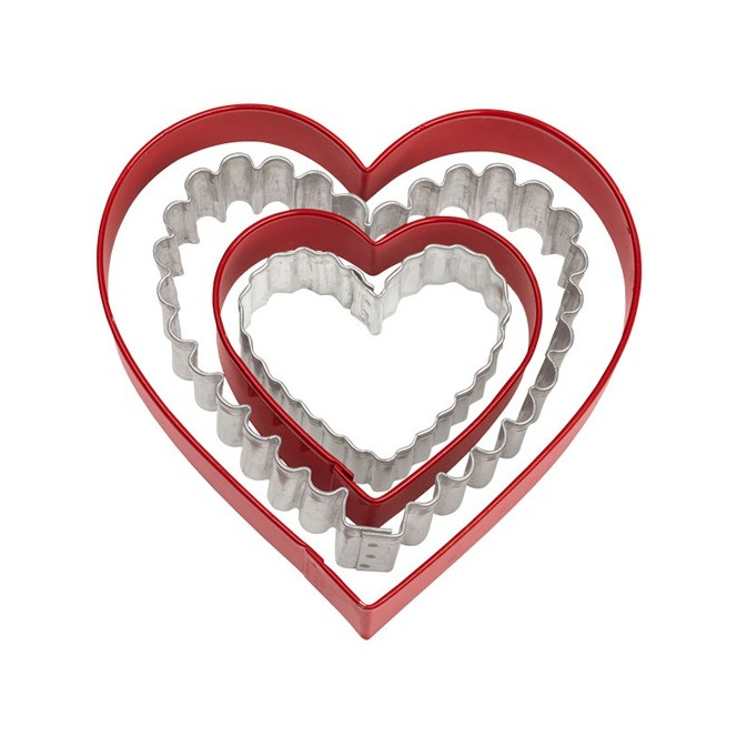 Wilton Cookie Cutter Metal Heart - Pk/4