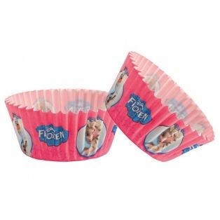 50 Caissettes à cupcakes - Reine des Neiges