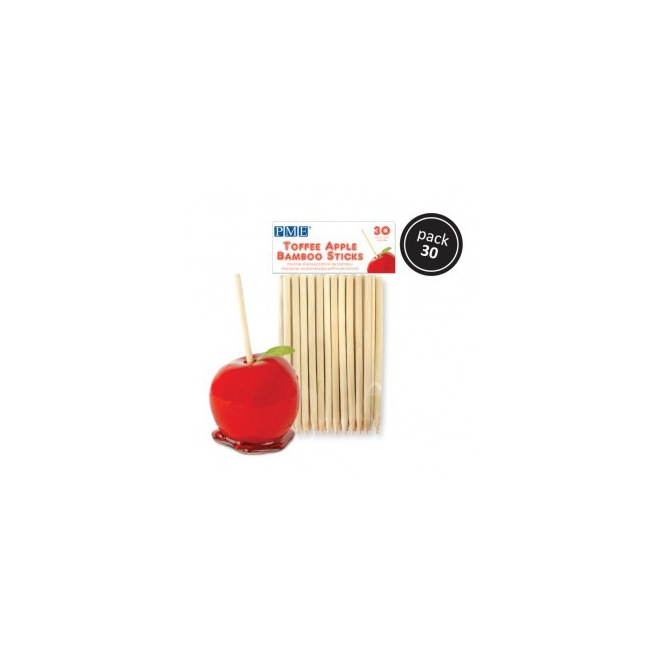 Toffee apple bamboo sticks