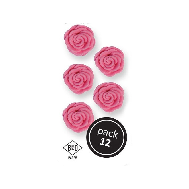 Rose en sucre - Rose - 12pc