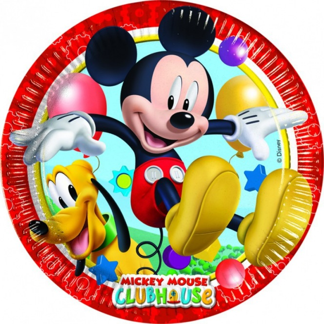 8 paper plates - Mickey