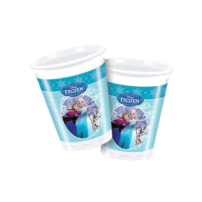 8 Plastic Cups - Frozen