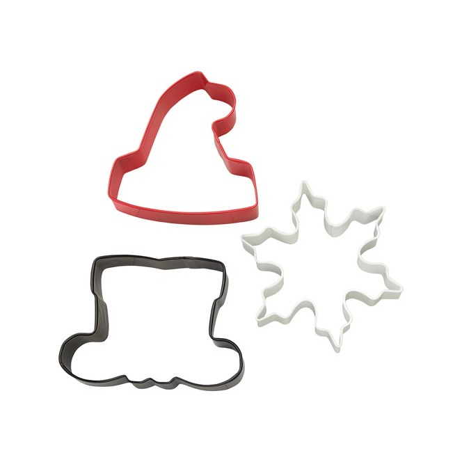 Wilton Cookie Cutter Set Santa Shaped set/3