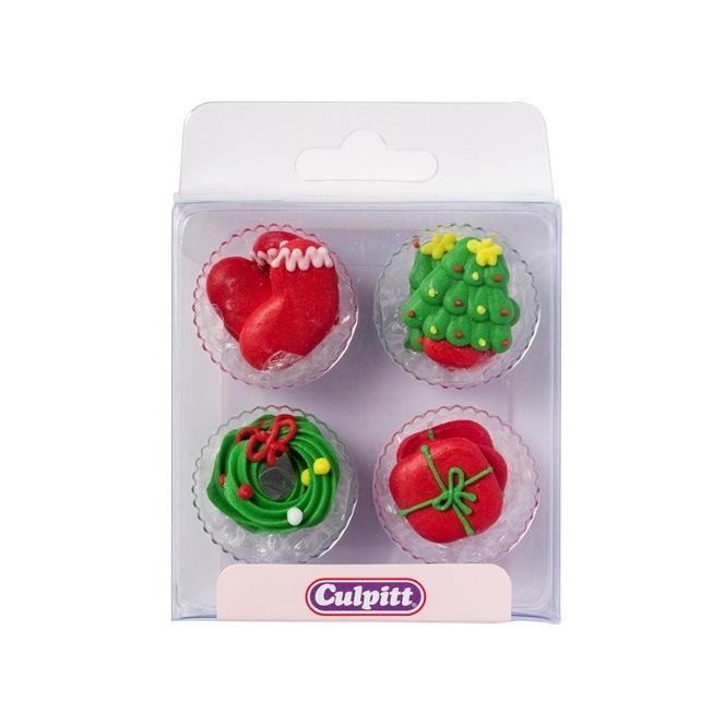 Culpitt Sugardecorations Santa & Rudolph pk/12