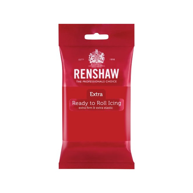 Renshaw Rolled Fondant Extra 250g - Red