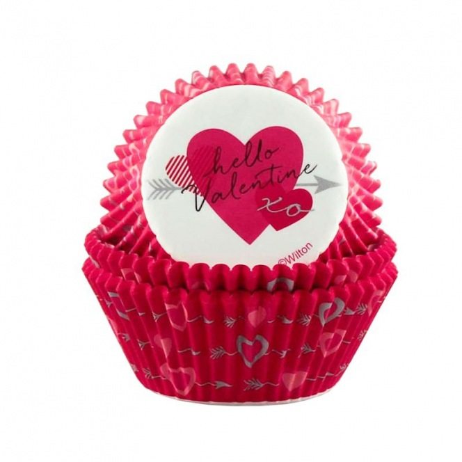 75 Hello Valentine Baking Cups