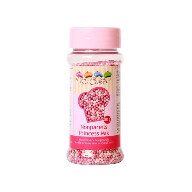 FunCakes Nonpareils - Princess Mix - 80g